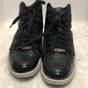 Coach Norra Black Silver Patent Leather High top 9